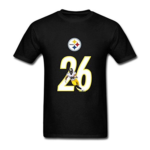 Flip-rings-Mens-LeVeon-Bell-No26-Pittsburgh-Steelers-T-Shirt-S-0