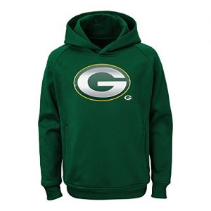 Green-Bay-Packers-Youth-Kinder-NFL-Chrome-Performance-Pullover-Hooded-Sweatshirt-0