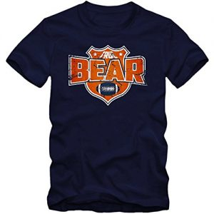Im-a-Bear-8-T-Shirt-Football-Herren-Super-Bowl-Play-Offs-USA-FarbeDunkelblau-French-Navy-L190GreL-0
