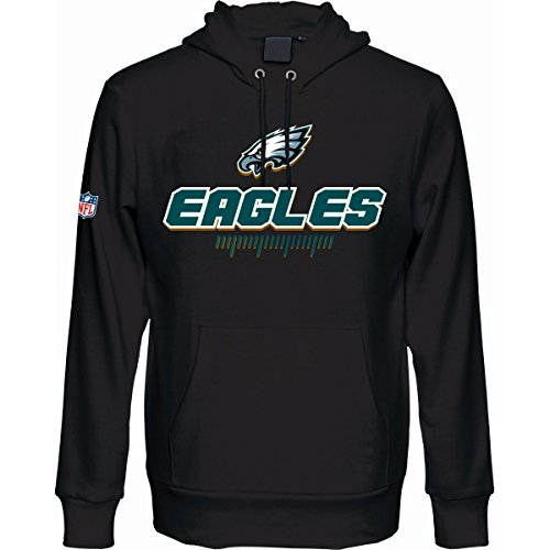 Majestic-Fan-Hoody-NFL-Philadelphia-Eagles-schwarz-S-0
