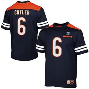 Majestic-Jay-Cutler-Chicago-Bears-6-Mesh-Jersey-NFL-T-Shirt-L-0