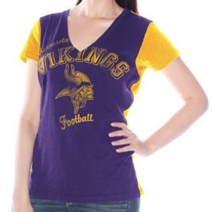 Minnesota-Vikings-Womens-G-III-NFL-Fair-Catch-V-neck-T-shirt-0