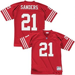Mitchell-Ness-Deion-Sanders-San-Francisco-49ers-Throwback-NFL-Trikot-Rot-XXL-0