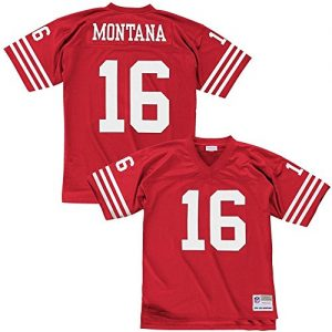 Mitchell-Ness-Joe-Montana-San-Francisco-49ers-Throwback-NFL-Trikot-Rot-S-0