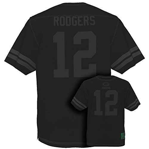 NFL-Football-ShirtJerseyTrikot-GREEN-BAY-PACKERS-Aaron-Rodgers-Hashmark-II-black-in-LARGE-L-0