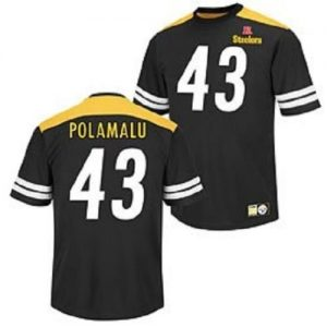 NFL-Football-ShirtJerseyTrikot-PITTSBURGH-STEELERS-Troy-Polamalu-42-Hashmark-II-in-LARGE-L-0