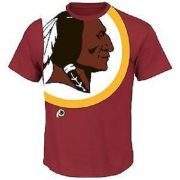 NFL-Football-T-Shirt-WASHINGTON-REDSKINS-Blind-Pass-Oversize-Logo-in-SMALL-S-0