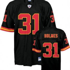 NFL-Football-TrikotJersey-KANSAS-CITY-CHIEFS-Priest-Holmes-31-black-in-L-LARGE-0