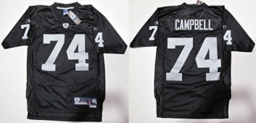 NFL-Football-TrikotJersey-OAKLAND-RAIDERS-Bruce-Campbell-74-black-in-SMALL-S-0