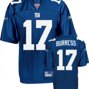 NFL-Football-TrikotJersey-ONFIELD-NEW-YORK-NY-GIANTS-Paxico-Burress-17-in-sz-52-blau-in-XL-X-LARGE-0