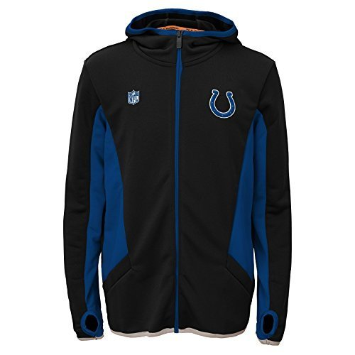 NFL-Indianapolis-Colts-Strike-Full-Zip-Hoodie-Small-Black-by-NFL-0