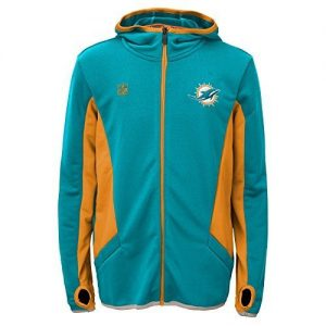 NFL-Miami-Dolphins-Strike-Full-Zip-Hoodie-X-Large-Aqua-by-NFL-0