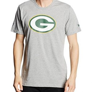 New-Era-Herren-T-Shirt-Nfl-Green-Bay-Packers-Logo-Grau-Grau-Large-0