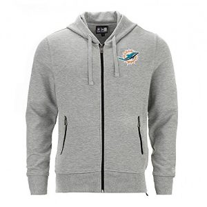 New-Era-Miami-Dolphins-Team-Full-Zip-Hoodie-NFL-Sweatshirt-Grau-S-0