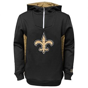 New-Orleans-Saints-Youth-Kinder-NFL-Power-Logo-Performance-Hooded-Sweatshirt-0