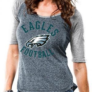 Philadelphia-Eagles-Womens-Majestic-NFL-Champion-Scoop-Neck-Raglan-T-shirt-0
